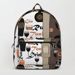 Drinks Brandy. Rum . Backpack