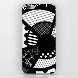 Twisted Web - Black And White, Patterned, Abstract Art iPhone Skin