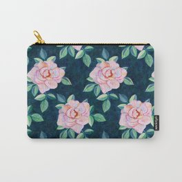 Simple Pink Rose Oil Painting Pattern Carry-All Pouch
