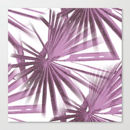 Lilac on White Tropical Vibes  Beach Palmtree Vector Canvas Print