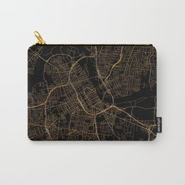 Black and gold Nashville map Carry-All Pouch