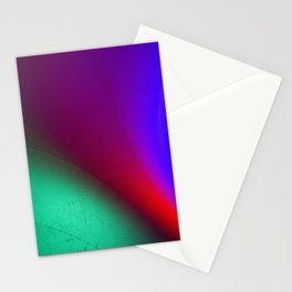 Rainbow colour waves Stationery Cards