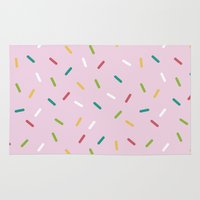 donut Area & Throw Rugs featuring Donut by According to Panda