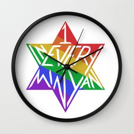 one in every minyan Wall Clock