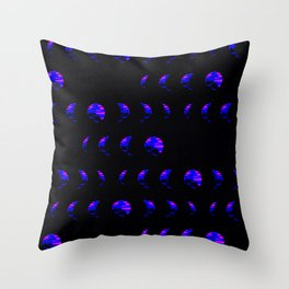 Strobe Moon Phase Throw Pillow