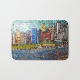 New York Skyline and Lady Liberty Bath Mat