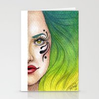 fierce Stationery Cards featuring Fierce  by StaceyPatinoArt