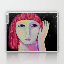 Abstract Digital Painting of a Red Haired Woman Laptop & iPad Skin