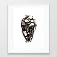 life aquatic Framed Art Prints featuring Aquatic by Emma Lettera