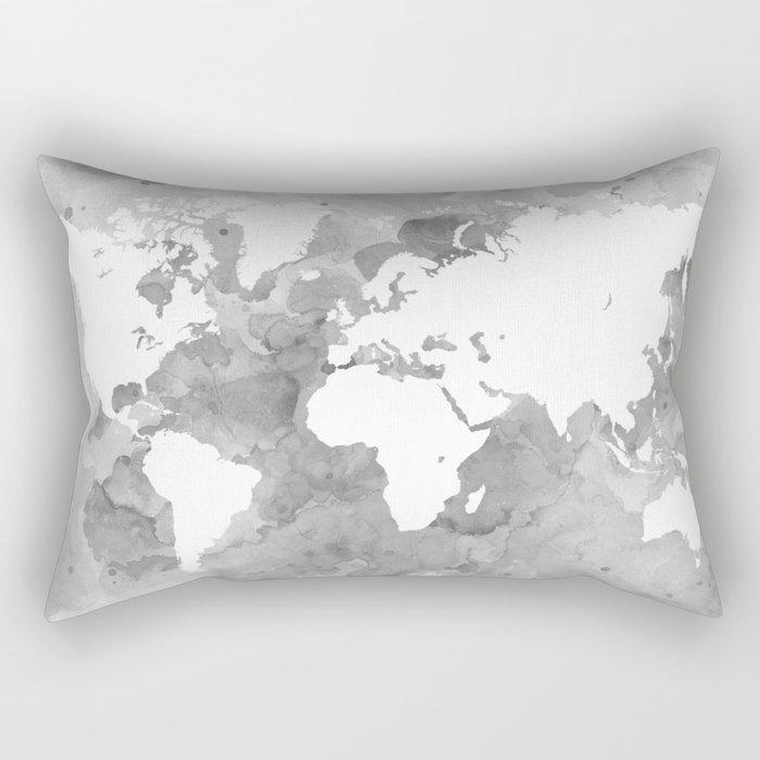 Design 49 grayscale world map rectangular pillow by artbylucie design 49 grayscale world map rectangular pillow gumiabroncs Image collections