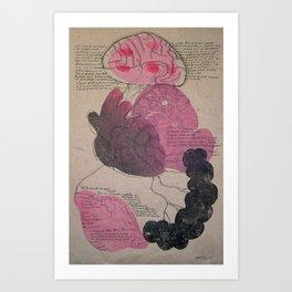 Memoria del desplazamiento Art Print