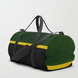 Green, Gold And Black Color Block Duffle Bag