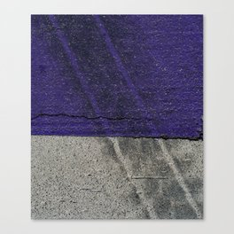 Urban Photography - Road Markings Tire Tracks - Purple Canvas Print