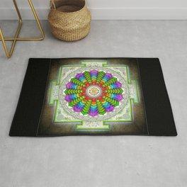 Lotus Sri Yantra Rug