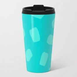 Turquoise Brushstrokes Travel Mug