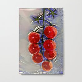 Cherry tomatoes on a branch Metal Print