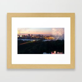 City Day closing, 121 years to Novosibirsk Framed Art Print