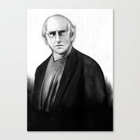 larry david Canvas Prints featuring DARK COMEDIANS: Larry David by Zombie Rust