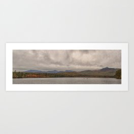 Mountains and lake Art Print