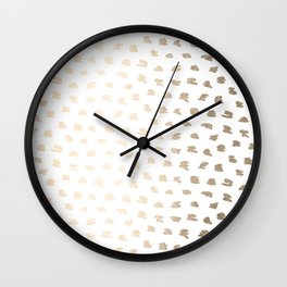 Golden Hot Spots Wall Clock