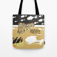 war Tote Bags featuring war by DONA USTRA