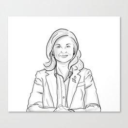 Leslie Knope Canvas Print