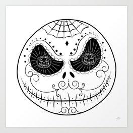Jack's Skull Sugar (Vector Mexican Skull) Art Print