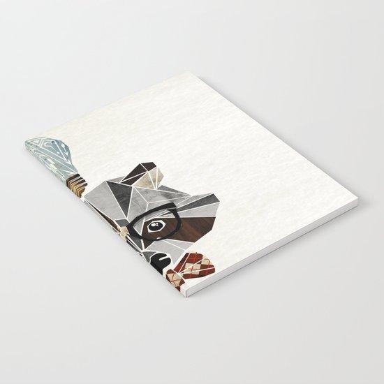 raccoon nerd Notebook