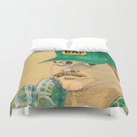 swanson Duvet Covers featuring Dennis Swanson watercolor™ by Space/Vampire