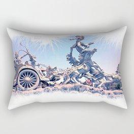 colossal horse statue Rectangular Pillow