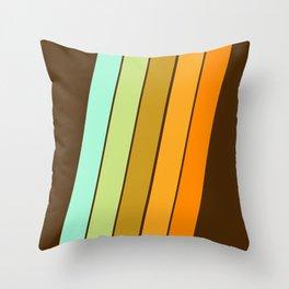 Fer Shure - retro throwback minimal 70s style decor art minimalist 1970's vibes Throw Pillow