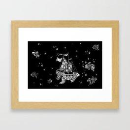 goldfish pond Framed Art Print
