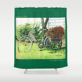 Impatiens to Ride Shower Curtain