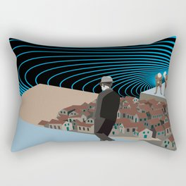 Not knowing that the end was coming Rectangular Pillow