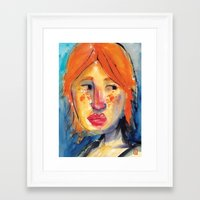 redhead Framed Art Prints featuring Redhead by Danilo Gonçalves