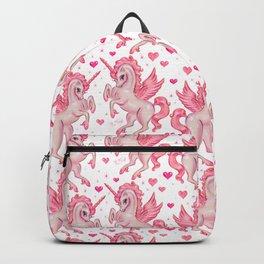 Pink Unicorn Pegasus Backpack