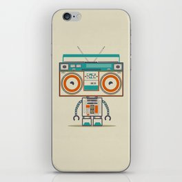 Music robot iPhone Skin