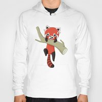 red panda Hoodies featuring Red Panda by Freeminds