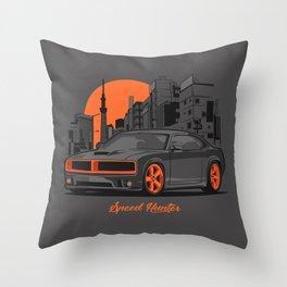Speed Hunter Throw Pillow