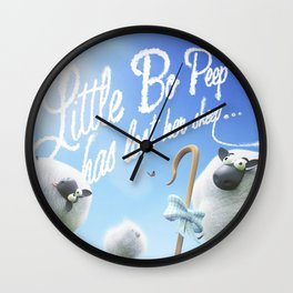 Little Bo Peep - Nursery Rhyme Inspired Art Wall Clock