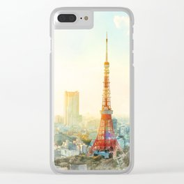 Tokyo tower, landmark of Japan Clear iPhone Case