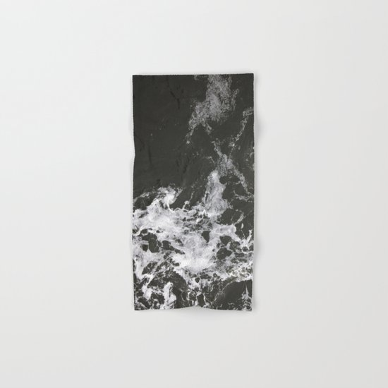 Black Water + Marble #society6 #decor #buyart Hand & Bath Towel
