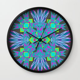 Plan on Graphite Wall Clock