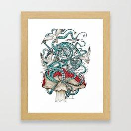 Flying the Agaric Framed Art Print