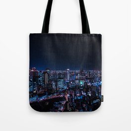 Osaka City Nightscape Tote Bag