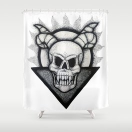 Demon Skull Shower Curtain