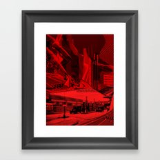 Dark city red Framed Art Print