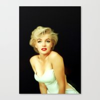 marilyn Canvas Prints featuring Marilyn Monroe by Mamboo