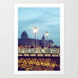 Paris at Night: Pont Neuf Art Print