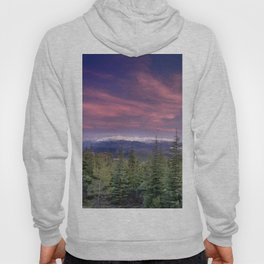 Pink sunset. Into the woods. Hoody
